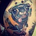 Sarah's Bumblebee Pug Tattoo, Tattooed by Scott Olive, Sarasota, FL, US