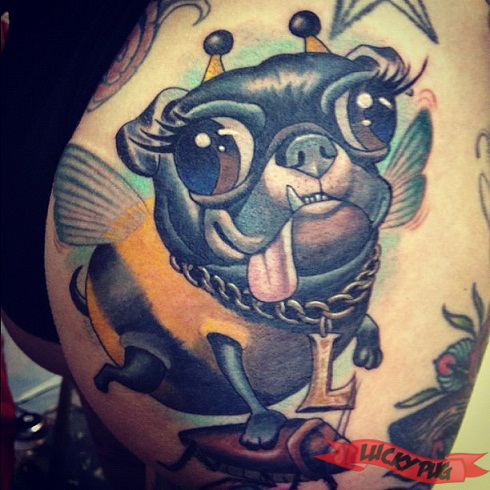 Gallery of butt pug tattoos pug tattoo designs for South florida tattoo