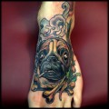 Smoking Pug - Submitted and Tattooed by Kyle Wood Tattoos, Washington, US