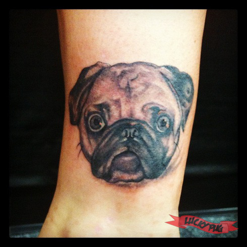 black pug tattoos pictures to pin on pinterest tattooskid. Black Bedroom Furniture Sets. Home Design Ideas