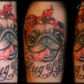 Pug Life -  Tattooed by Eva of Canday Cane Art in Netherlands
