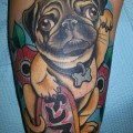 Jessica's Ares the 'Lucky Pug' - Tattooed by Matt Brotka at Salvation Tattoo in Richmond, VA, USA