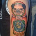 Pug the Russian Doll - Tattooed by Brian Russell at Iron Anchor Tattoos