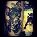 Girly Frenchie - Tattooed by tater_tots, USA