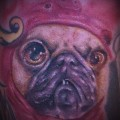 Pug Wearing a Pig Hat - Tattooed by Petor Jankevicius from Burlington, Ontario, Canada