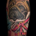 Houdinim the Escape artist Pug - Tattooed by Brandon Bond at All Or Nothing Tattoo in Atlanta GA, USA