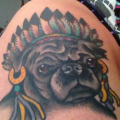 Bebop the Pug -  Tattooed by Tyler Densley at Cathedral Tattoo