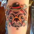 Pugs & Crossbones - Tattooed by Michael Kortez at Kirk Alley's 1111 Tattoo in LA, CA, USA