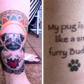 "Tracy's Pug Buddha Tattoo - """"My pug is wise, like a small furry Buddha."""
