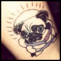 Sparkey the Pug - Tattooed by James Fanara at Old Gold in Bellingham, WA USA