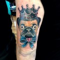 King Pug - Tattooed by Jade Baxter Smith of Twisted By Design Tattoo
