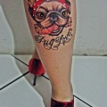 Bella the Pug - Tattooed at Saddam Tattoo Studio in Sao Paulo, Brazil