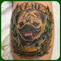 Tank the Pug - Tattooed by Bryn Taylor at Sugarfoot Tattoo in San Mateo, California, USA