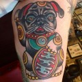 Megain's Lucky Pug - tattooed by Lauren B at Tower Classic