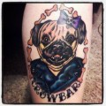 CROWBAR the pug - Tattooed by Rachel Merritt at Emperor Tattoo in Nashville, TN
