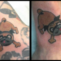Edgrr Allan the Pug - Tattooed by Jason at Lady Luck Tattoo