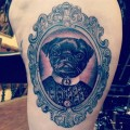 Kirby the Pug - Tattooed by Pete Thethief at Skin Candy in Brighton