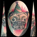 Party Pug - Tattooed by Bo Myers at Electric Pony Tattoo