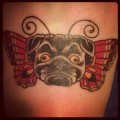 Puggerfly - Tattooed by Ezra Haidet