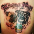 Mommy's Pugs - Tattooed by Alvaro Contreras at Mr Crowley Tattoo Studio