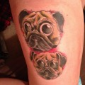 Two Pugs - Tattooed by Jon Potter at Twisted Image Custom Tattoo