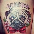 Winston the Pug -  Tattooed by Sadee at Ruby Lou's Tattoo Studio
