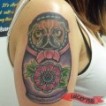 Babushka the Pug - Tattooed by Jamila at Jimmy Romance Tattoo