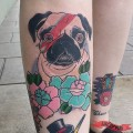 David Bowie Pug -Tattooed by Brian Lejman of Premier Tattoo