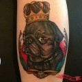 King Louis - by Ryan Cullen of Classic Tattoos, St Petersburg