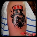 AMERICAN Pug - Tattooed by Kankle Bacon, Las Vegas, USA