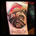 Patron the Pug - Tattooed by Ash Harris of Tebori Custom Tattoo, UK