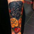 Doris the Pug - tattooed by Ludde of Crazy Fresh Tattoo, Stockholm, Sweden