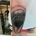 Pug Life Tattoo - Tattooed by Yoga Lionk of Balinesia Tattoo Studio, Bali, Indonesia