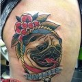 PUG LIFE - Tattooed by Chris Devine of Northside Tattooz