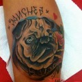 Sanchez the Pug - Tattooed by Ruddy Imada Bandung, Indonesia