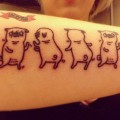 Dancing Pugs - Design by Gemma Correll, Tattooed by Danny Kalan of Emerald City Tattoo