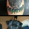 Creature the Pug - Tattooed by Ryan Simon of Eternal Tattoo, Springfield, MO, USA
