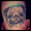 Ankle Pug tattoo on IG @lisasupershears