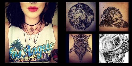 Lizzie Cartwright - Bon Voyage Tattoo - Pug Screams Tee