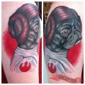 Princess Leia Pug - Artist: Michael Bogle of Eyecandy Tattoos, New Orleans, USA