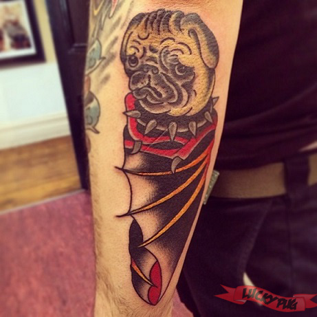 arm-pug-tattoo-on-mike-dantonio-killswitch-engage-by-dave-at-chapel-st-tattoo-melbourne-australia