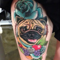Fez the Pug - Artist - Clare Hampshire of Korpus Studio, Melbourne, Australia