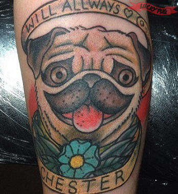 Color arm pug tattoos picture gallery sleeve pug tattoo for Morning star tattoo