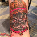 Artist: Ezra Haidet of Mainstay Tattoo, Austin, Texas, USA
