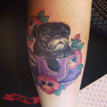 Pug in a cup - by Eddy Lou at STR Body Modifications in Wyong, NSW, Australia