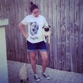 Pug Screams Tee (White) - Nelly (& Chloe & Ozzy the Pugs) from Florida, USA