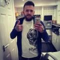 Pug Screams Tee (White) - Nick Wild of Inkinc of The Tattoo Lounge from Pontypool, Wales