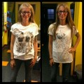 Romantic Pugs Tee & Unicorn Pug Tee - Jen from San Mateo, California, USA