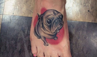 foot-pug-tattoo-on-monica-weber-by-mike-campbell-at-clever-rebel-tattoo-washington-usa