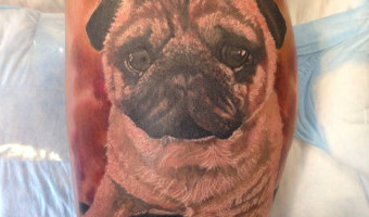 leg-pug-tattoo-rip-enzo-on-aj-vagliani